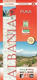 ALBANIA PUKA mapa turystyczna 1:50 000 HUBER KARTOGRAPHIE