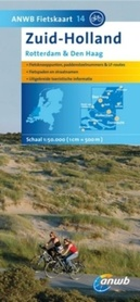 HOLANDIA POŁUDNIOWA Rotterdam Haga mapa rowerowa  1:50 000 ANWB