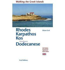 RODOS KARPATHOS KOS POŁUDNIOWY DODEKANEZ przewodnik Walkin the Greek Islans GRAF EDITIONS