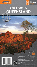 OUTBACK QUEENSLAND AUSTRALIA podręczna mapa HEMA
