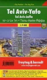 TEL AWIW-JAFA TEL AVIV-YAFO plan miasta laminowany 1:9 400 FREYTAG & BERNDT 2018