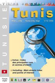 TUNIS TUNEZJA plan miasta 1:12 000 LAURE KANE