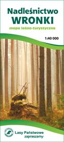 NADLEŚNICTWO WRONKI mapa leśno-turystyczna 1:40 000 CARTOMEDIA