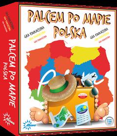 POLSKA - PALCEM PO MAPIE gra edukacyjna wyd. ABINO 2016