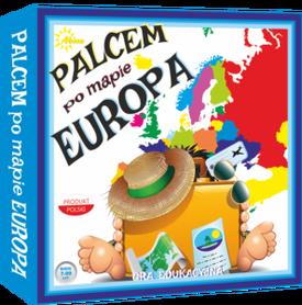 EUROPA - PALCEM PO MAPIE gra edukacyjna wyd. ABINO 2016