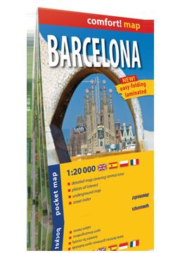 BARCELONA KIESZONKOWY laminowany plan miasta 1:20 000 wersja angielska EXPRESSMAP