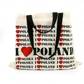 TORBA PŁÓCIENNA I LOVE POLAND wyd. BADY