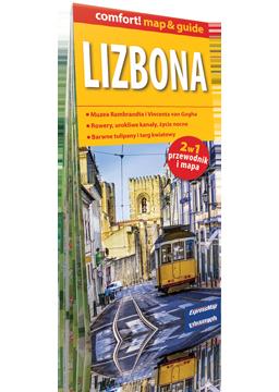 LIZBONA 2w1 przewodnik + mapa laminowana EXPRESSMAP 2018