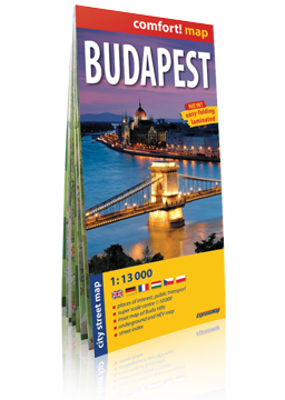 BUDAPESZT laminowany plan miasta 1:13 000 wer.ang EXPRESSMAP 2016