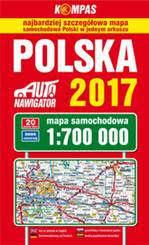 POLSKA mapa samochodowa  1:700 000 PWN 2017
