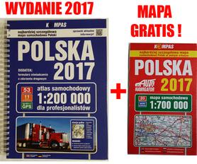 POLSKA ATLAS SAMOCHODOWY 2017 + MAPA SAMOCHODOWA GRATIS !! PWN