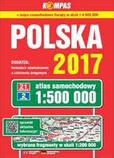 POLSKA atlas samochodowy 1:500 000 PWN 2017 !!!