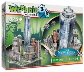 NOWY JORK DOWNTOWN WORLD TRADE WREBBIT 3D PUZZLE 875 elementów TACTIC