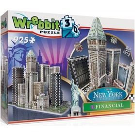 NOWY JORK DOWNTOWN FINANCIAL WREBBIT 3D PUZZLE 925 elementów TACTIC