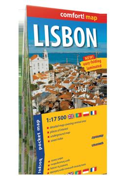 LIZBONA kieszonkowy laminowany plan miasta 1:17 500 wersja angielska EXPRESSMAP 2016
