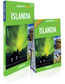 ISLANDIA 2w1 przewodnik + mapa laminowana LIGHT EXPRESSMAP 2019