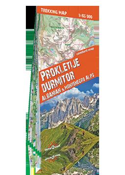 ALPY ALBANII I CZARNOGÓRY Durmitor i Prokletije laminowana mapa trekkingowa 1:65 000 EXPRESSMAP
