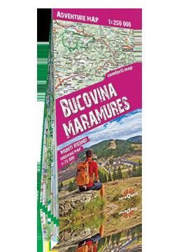 BUKOWINA MARAMURESZ MUNTII RODNEI Adventure Map mapa laminowana 1:250 000 / 1:75 000 EXPRESSMAP