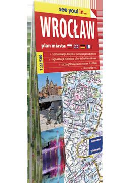 WROCŁAW plan miasta w kartonowej okładce 1:22 500 EXPRESSMAP
