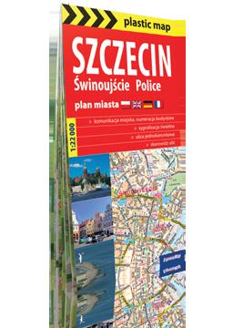 SZCZECIN ŚWINOUJŚCIE POLICE papierowy plan miasta 1:22 000 EXPRESSMAP 2016
