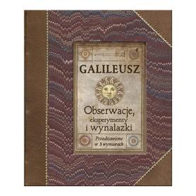 GALILEUSZ EKSPERYMENTY OBSERWACJE WYNALAZKI TRÓJWYMIAROWA KSIĄŻKA EDUKACYJNA wyd. DEBIT