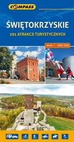 ŚWIĘTOKRZYSKIE 101 ATRAKCJI TURYSTYCZNYCH mapa turystyczna 1:200 000 COMPASS 2017
