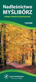 NADLEŚNICTWO MYŚLIBÓRZ mapa leśno turystyczna 1:50 000 CARTOMEDIA