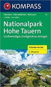 Nationalpark HOHE TAUERN Park Narodowy WYSOKIE TAURY mapa turystyczna 1:50 000 KOMPASS