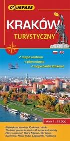 KRAKÓW TURYSTYCZNY mapa turystyczna 1:15 000 COMPASS 2016