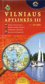 OKOLICE WILNA CZ. 3 pd-zach mapa turystyczna BRIEDIS 2014