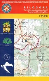 BILOGORA PANOŃSKIE GÓRY WYSPOWE mapa turystyczna 1:25 000 wyd. HGSS