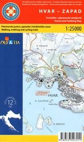 WYSPA HVAR - ZACHÓD ŚRODKOWA DALMACJA CHORWACJA mapa turystyczna 1:25 000 wyd. HGSS