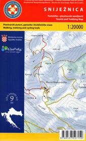 SNIJEZNICA GÓRY DYNARSKIE mapa turystyczna 1:20 000 wyd. HGSS