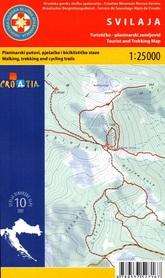 SVILAJA ZAGORA DALMACJA CHORWACJA mapa turystyczna 1:25 000 wyd. HGSS