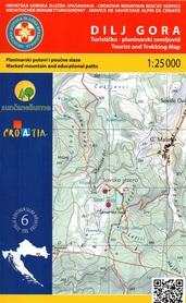 DILJ GORA PANOŃSKIE GÓRY WYSPOWE mapa turystyczna 1:25 000 wyd. HGSS
