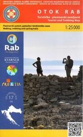 WYSPA RAB CHORWACJA mapa turystyczna 1:25 000 wyd. HGSS