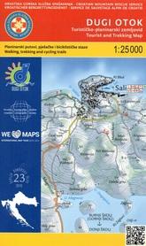 WYSPA DUGI OTOK CHORWACJA mapa turystyczna 1:25 000 wyd. HGSS