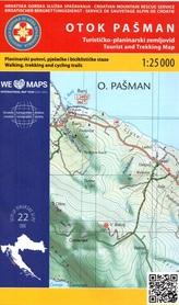 WYSPA PASMAN CHORWACJA mapa turystyczna 1:25 000 wyd. HGSS