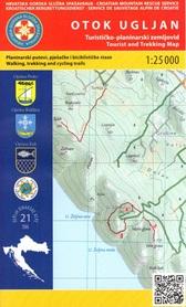 WYSPA UGLJAN CHORWACJA mapa turystyczna 1:25 000 wyd. HGSS