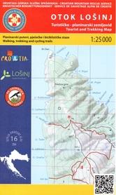 WYSPA LOSINJ CHORWACJA mapa turystyczna 1:25 000 wyd. HGSS