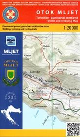 WYSPA MLJET CHORWACJA mapa turystyczna 1:20 000 wyd. HGSS
