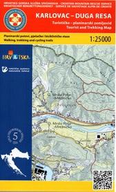 KARLOVAC - DUGA RESA CHORWACJA mapa turystyczna 1:25 000 wyd. HGSS