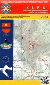 GÓRA KLEK CHORWACJA mapa turystyczna 1:25 000 wyd. HGSS