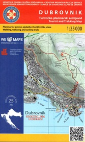 DUBROWNIK CHORWACJA DALMACJA mapa turystyczna 1:25 000 wyd. HGSS