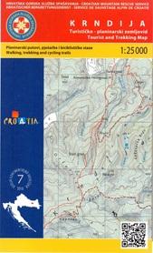 KRNDIJA PANOŃSKIE GÓRY WYSPOWE CHORWACJA mapa turystyczna 1:25 000 wyd. HGSS