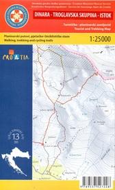 DINARA TROGLAVSKA SKUPINA WSCHÓD GÓRY DYNARSKIE mapa turystyczna 1:25 000 wyd. HGSS