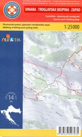 DINARA TROGLAVSKA SKUPINA ZACHÓD GÓRY DYNARSKIE mapa turystyczna 1:25 000 wyd. HGSS
