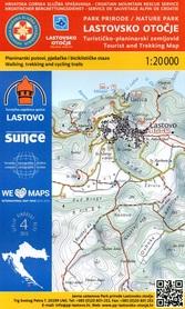PARK PRZYRODNICZY LASTOVSKO OTOCJE WYSPA LASTOVO CHORWACJA mapa turystyczna 1:20 000 wyd. HGSS