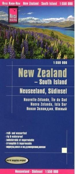NOWA ZELANDIA Wyspa Południowa mapa 1:550 000 REISE KNOW HOW