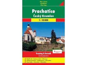 PRACHATICE CESKY KRUMLOV CZECHY plan miasta papierowy 1:10 000 FREYTAG & BERNDT 2016